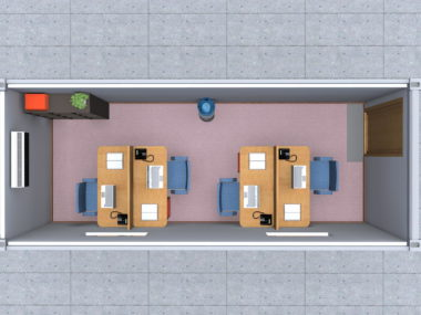 Project 1- renderings: MB Office 1C_4p
