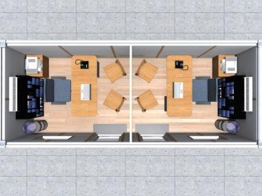 Project 1- renderings: MB Split_office