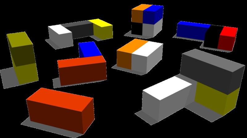 Arrangement of Lego® blocks