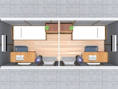 Project 1- renderings: Split bedrooms